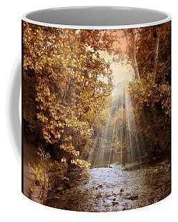 Coffee Mug featuring the photograph Autumn River Light by Jessica Jenney