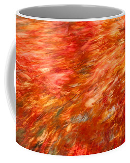 Coffee Mug featuring the photograph Autumn River Of Flame by Jeff Folger