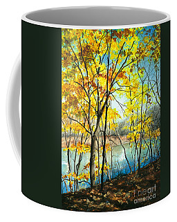 Autumn River Walk Coffee Mug