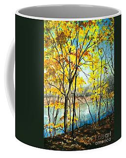 Autumn River Walk Coffee Mug by Barbara Jewell