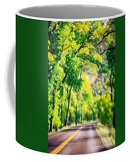 Autumn Road Through Zion Coffee Mug