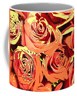 Coffee Mug featuring the photograph Autumn Roses On Your Wall by Joseph Baril