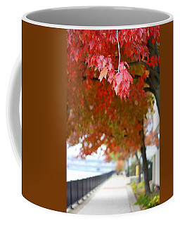 Coffee Mug featuring the photograph Autumn Sidewalk by Viviana  Nadowski