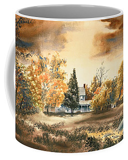 Coffee Mug featuring the painting Autumn Sky No W103 by Kip DeVore