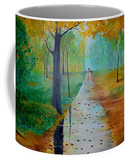 Coffee Mug featuring the painting Autumn Stroll by Gary Smith