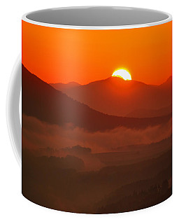 Autumn Sunrise On The Lilienstein Coffee Mug