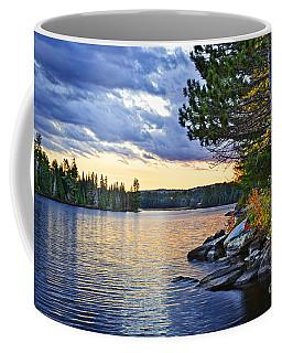 Autumn Sunset At Lake Coffee Mug