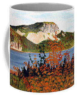 Coffee Mug featuring the painting Autumn Sunset On The Hills by Barbara Griffin