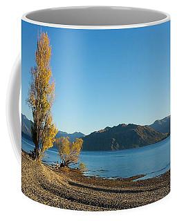 Coffee Mug featuring the photograph Autumn Trees At Lake Wanaka by Stuart Litoff