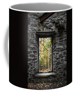 Autumn Within Cunningham Tower - Historical Ruins Coffee Mug