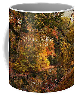 Coffee Mug featuring the photograph Autumn's Edge by Jessica Jenney