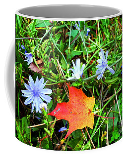 Coffee Mug featuring the photograph Autumns First Leaf by Jackie Carpenter