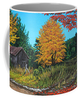 Autumns Rustic Path Coffee Mug by Wendy Shoults