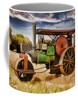 Coffee Mug featuring the photograph Aveling Porter Road Roller by Paul Gulliver