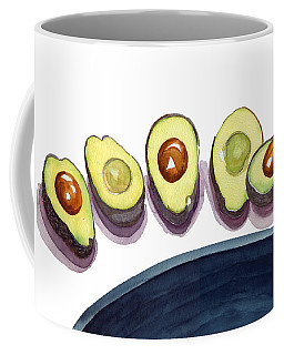 Coffee Mug featuring the painting Avocados by Katherine Miller