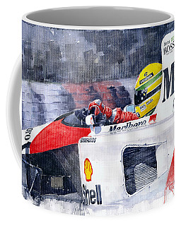 Ayrton Senna Mclaren 1991 Hungarian Gp Coffee Mug