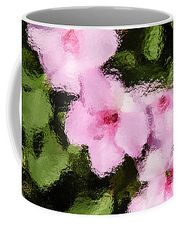 Azaelas Under Glass Coffee Mug