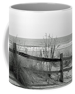 B And W Beach Coffee Mug
