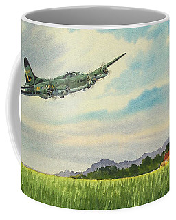B17 Over Norfolk England Coffee Mug