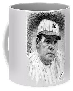 Coffee Mug featuring the drawing Babe Ruth by Viola El