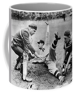 Babe Ruth Slides Home Coffee Mug