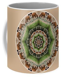 Coffee Mug featuring the digital art Baby Bison Mandala by Beth Sawickie