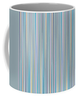Coffee Mug featuring the digital art Random Stripes - Baby Blues by Val Arie