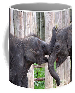 Baby Elephants - Bowie And Belle Coffee Mug by Pamela Critchlow