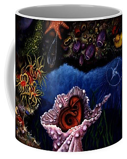 Coffee Mug featuring the painting Baby Octopus  by Lynn Buettner