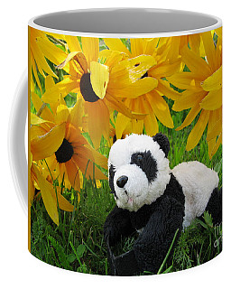 Baby Panda Under The Golden Sky Coffee Mug