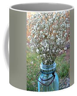 Coffee Mug featuring the photograph Baby's Breath Bouquet by Sandra Estes