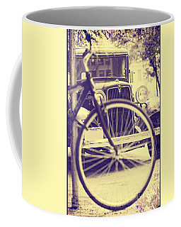 Coffee Mug featuring the digital art Back In Time by Erika Weber