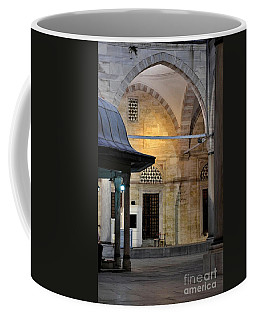Coffee Mug featuring the photograph Back Lit Interior Of Mosque  by Imran Ahmed