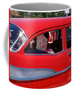 Coffee Mug featuring the photograph Back Seat Marilyn by Ed Weidman