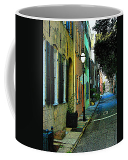 Coffee Mug featuring the photograph Back Street In Charleston by Rodney Lee Williams