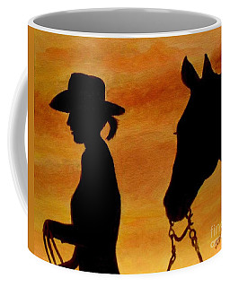 Coffee Mug featuring the painting Back To The Barn by Julie Brugh Riffey