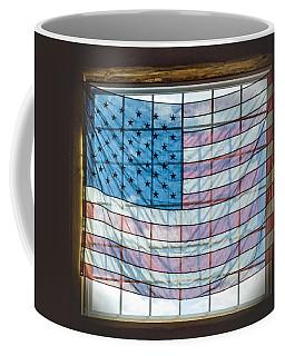 Backlit American Flag Coffee Mug