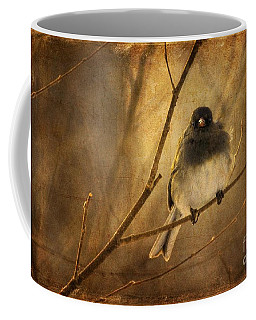 Backlit Birdie Being Buffeted  Coffee Mug