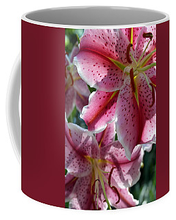 Coffee Mug featuring the photograph Backlit Spotted Daylilies by Michele Myers