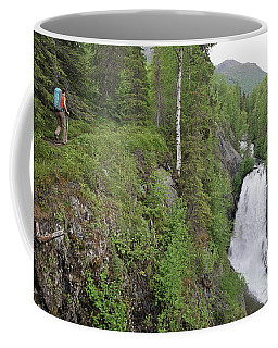 Backpacker Hikes The Resurrection Pass Coffee Mug