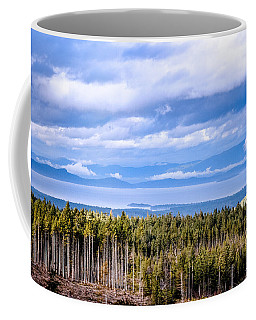 Johnstone Strait High Elevation View Coffee Mug