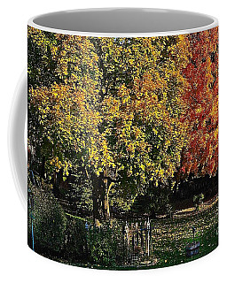Backyard Morning In The Fall Coffee Mug