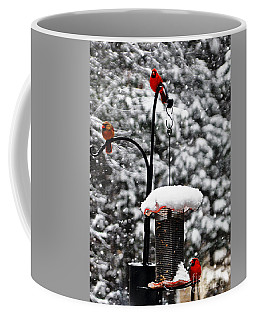 Backyard Winter Wonderland 2  Coffee Mug by Lydia Holly