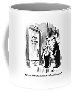 Bad News, I'm Afraid.  Little Orphan Annie Coffee Mug