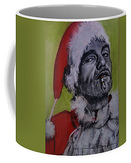 Coffee Mug featuring the painting Bad Santa by Eric Dee