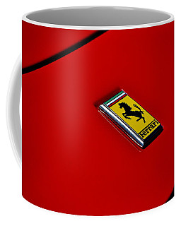 Coffee Mug featuring the photograph Badge In Red by Dean Ferreira