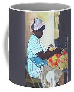 Bahamian Woman Weaving Coffee Mug by Frank Hunter