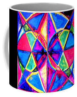 Coffee Mug featuring the painting Balance And Perspective 1 by Hazel Holland