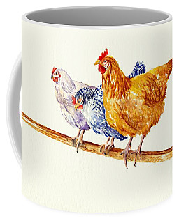 Balancing Chickens Coffee Mug