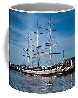 Rowing Past Balclutha And Steamship Eppleton Hall Coffee Mug